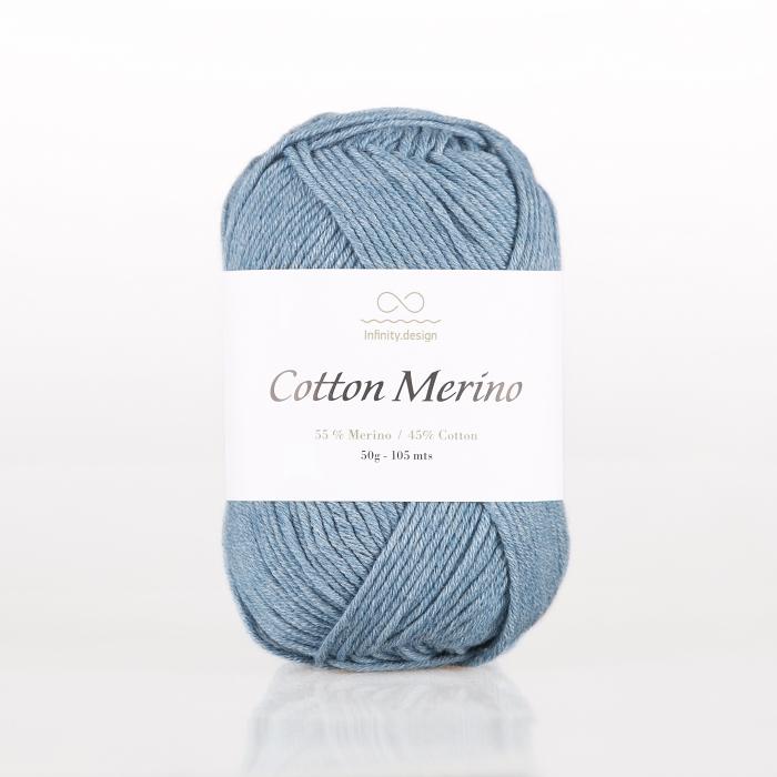 Пряжа INFINITY COTTON MERINO (55% мериносовая шерсть, 45% хлопок 50г 105м)