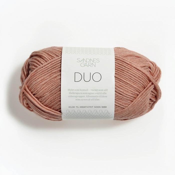 Пряжа SANDNES GARN DUO (55% мериносовая шерсть, 45% хлопок 50г 124м)